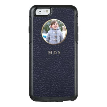 Photo Upload Faux Leather Effect Iphone 6s Case by mothersdaisy at Zazzle