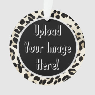 Photo Upload Leopard Print Frame Ornament