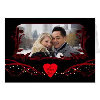 Photo Valentine s Day Card Modern With Hearts