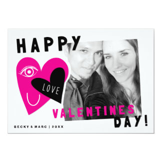 Photo Valentine's Day Card | Eye Love U Hearts