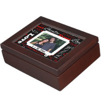 Photo Valentine's Day Word Collage Personalized Keepsake Box