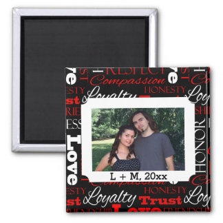 Photo Valentine's Day Word Collage Personalized Magnet