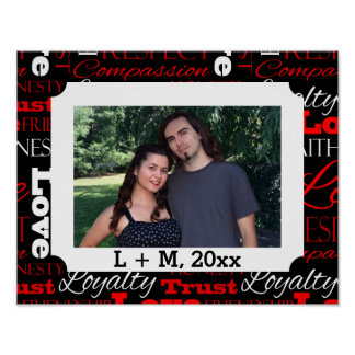 Photo Valentine's Day Word Collage Personalized Poster