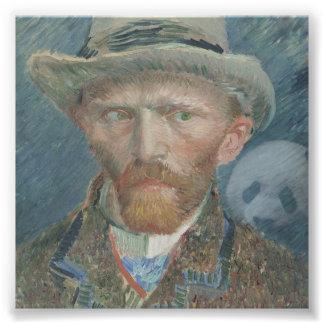 Photo Van Gogh Self Portrait with Creepy Panda