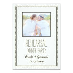 Photo Vintage Wedding Rehearsal Dinner Party Personalized Invite