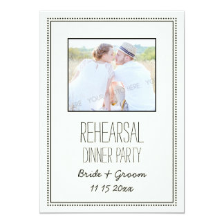 Photo Vintage Wedding Rehearsal Dinner Party 5x7 Paper Invitation Card