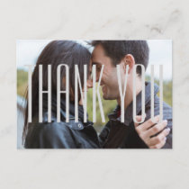 Photo W/ Empire Letters -3x5 Thank You Flat Card