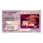 Photo Watermark Background template Business Card Template