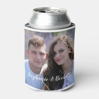 Photo Wedding Can Cooler