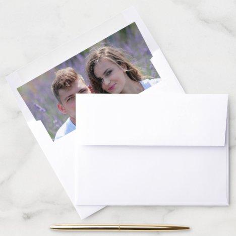 Photo Wedding Envelope Liner