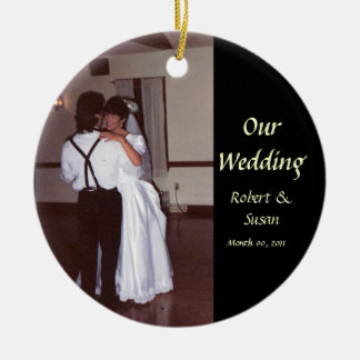 Photo Wedding Favor Keepsake Ceramic Ornament