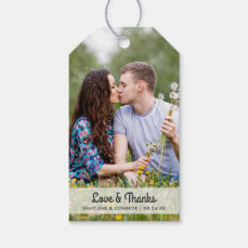 Photo Wedding Favor Tags | Striped Back