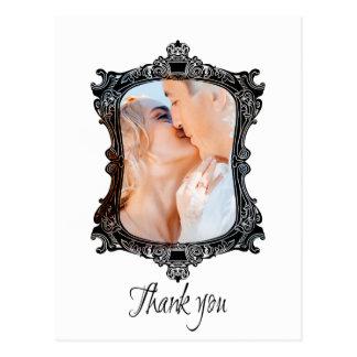 Photo wedding frame Thank You Card Post Card