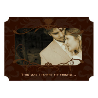 Photo Wedding Invite I marry my Friend-Chocolate