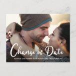 Photo Wedding Postponement Change of Date Announcement Postcard