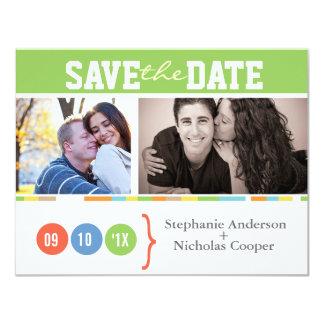 "Photo Wedding Save the Date 4.25"" X 5.5"" Invitation Card"