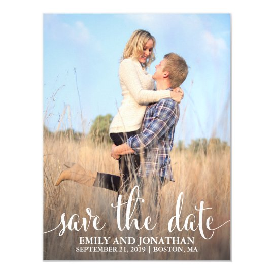 Photo Wedding Save The Date Magnets One Picture Magnetic Invitation