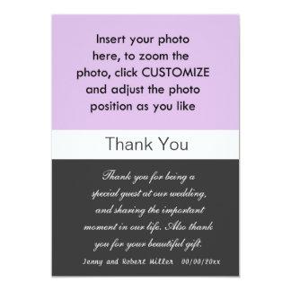 Photo wedding thank you card. card