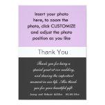 "Photo wedding thank you card. 5"" x 7"" invitation card"