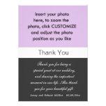 Photo wedding thank you card. invitations