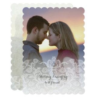 Photo Wedding Vintage Heirloom Damask Invitations