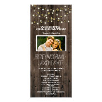 Photo Western Lights & Barn Wood Wedding Programs