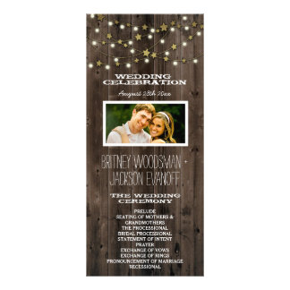 Photo Western Lights & Barn Wood Wedding Programs