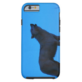 Photo, white wolf howling at night, Color, High Tough iPhone 6 Case
