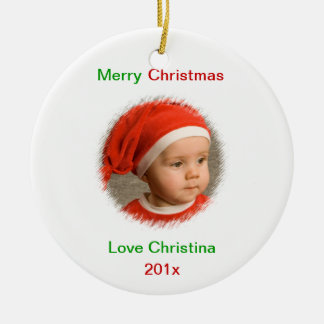 Photo Wishes Personalized Photo Ornament
