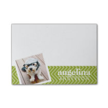 Photo with Chevron Pattern and Custom Name Post-it Notes