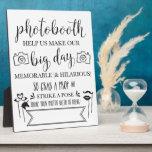 "Photobooth Hashtag Wedding Party Sign Plaque 8x10<br><div class=""desc"">Fun wedding reception sign for your photobooth! Write in your hashtag so your guests can share their silly photos!!</div>"