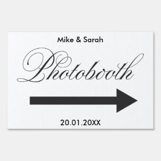 Photobooth Outdoor wedding yard sign