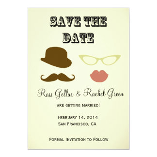 Photobooth Props Save-the-date Card