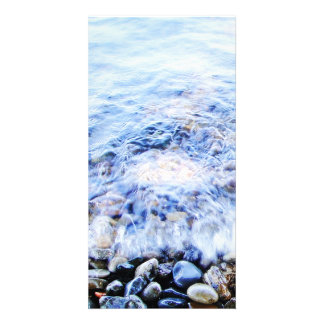 Photocard blue water and tiny wave card