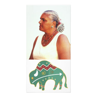 Photocard Buffalo Image Native American Custom Photo Card