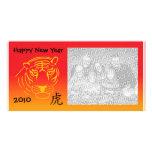 photocard chino del Año Nuevo Tarjetas Fotograficas Personalizadas