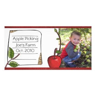 photocard de la cosecha de la manzana tarjeta fotográfica personalizada