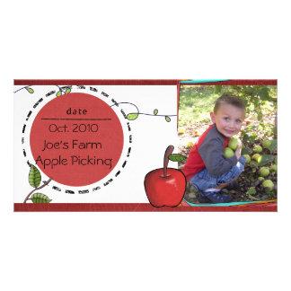 photocard de la cosecha de la manzana tarjetas fotograficas