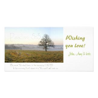 Photocard de la escritura del 5:3 del salmo plantilla para tarjeta de foto