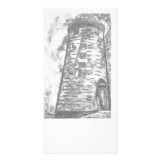 Photocard de piedra del faro tarjeta fotográfica
