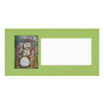 Photocard, Friendly Glitter Snowman Collage Card