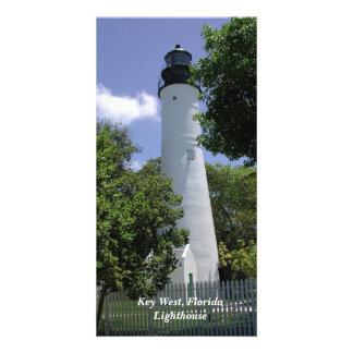 Photocard histórico del faro de Key West la Tarjeta Fotografica