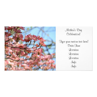 Photocard Pink Dogwood Invitation Mother's Day Photo Cards