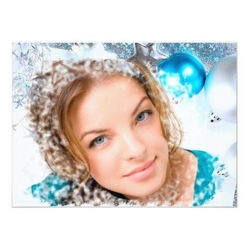 """photocards del navidad invitación 5.5"""" x 7.5"""""""