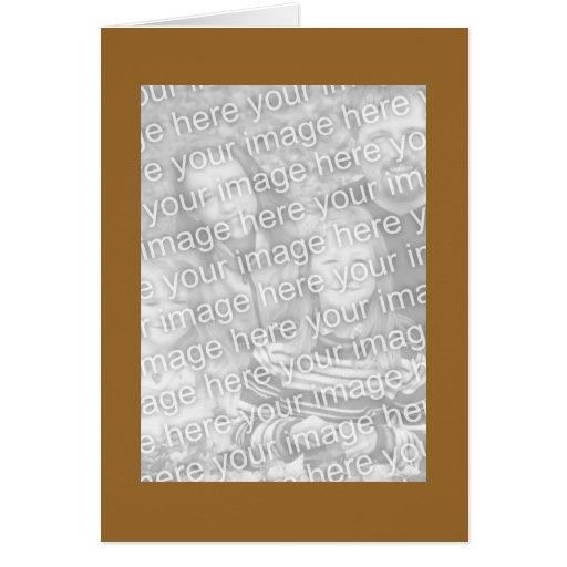 Photocards marrones claros simples tarjeta de felicitación