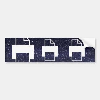Photocopies Minimal Car Bumper Sticker
