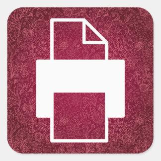 Photocopies Minimal Square Sticker