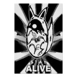 Photocoyote b/w STAY ALIVE Poster