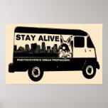 Photocoyote's STAY ALIVE Van Poster