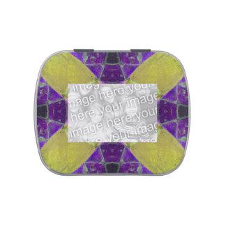 Photoframe abstracto de la MOD del amarillo púrpur
